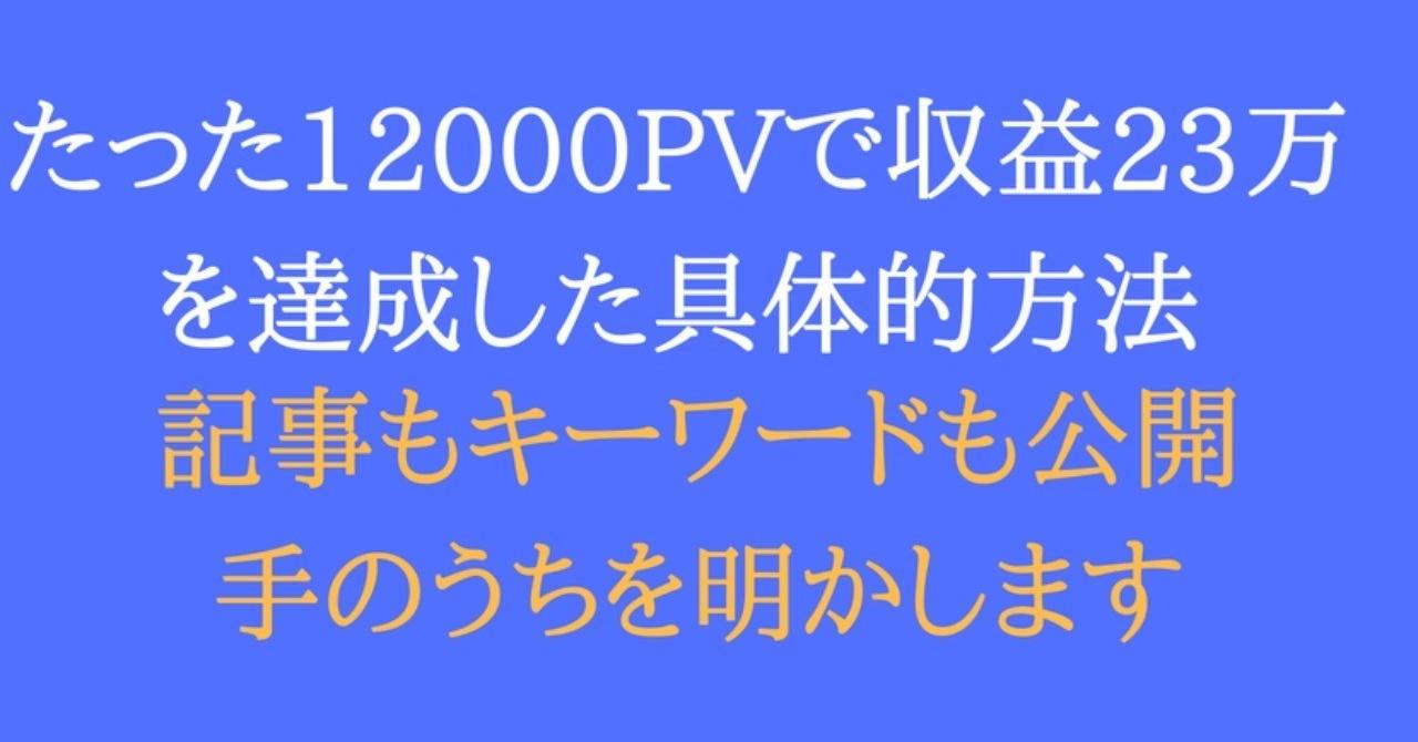 たった12,000PVでアフィリ収益23万を達成した僕が語る低PVでも高収益を狙う方法
