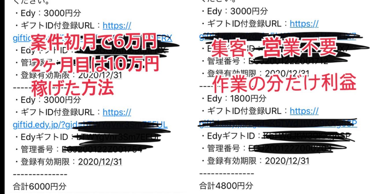 副業でも楽天Edyを毎月1~10万稼ぐ方法 マニュアルPDF+サポート付き