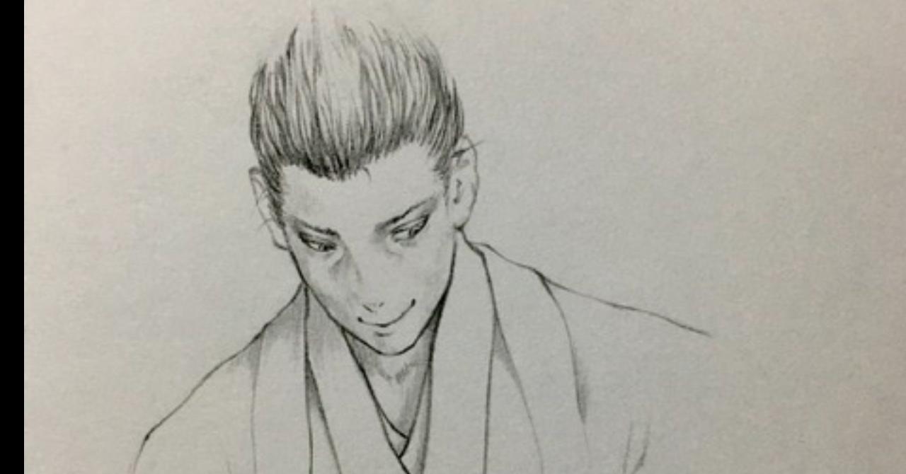 サムライイラストメイキング(斎藤一)
