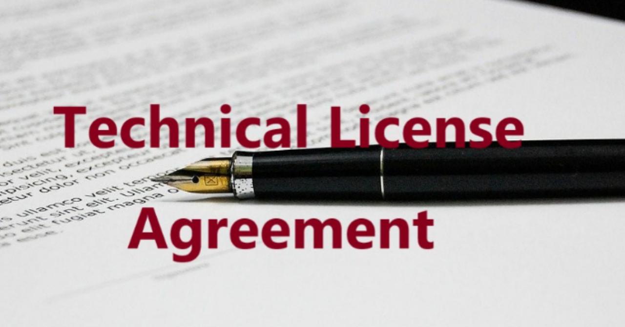 【技術ライセンス契約】のひな形(WORD作成) Technical License Agreement