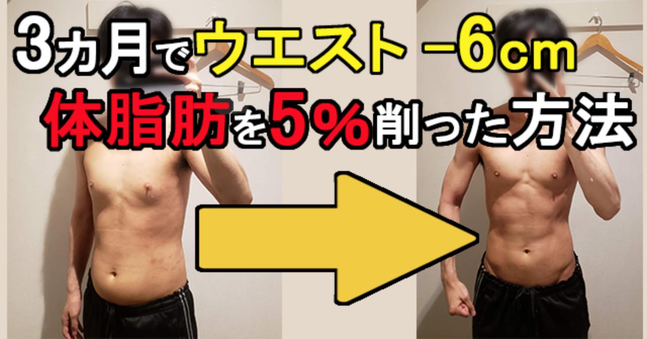 3ヵ月でウエスト-6cm、体脂肪-5%できた食事とトレーニング