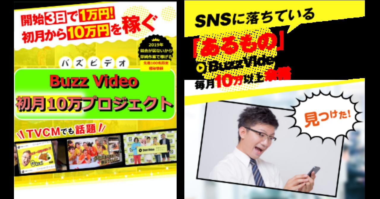 【無料】バズビデオで初月10万!自動収益コーチングプログラム!ココナラ,イケハヤ,マナブ,アフィリ,SEO,転売,せどり,ブレイン等の副業より絶対儲かるBuzzVideoの匿名ビジネス起業術を限定公開