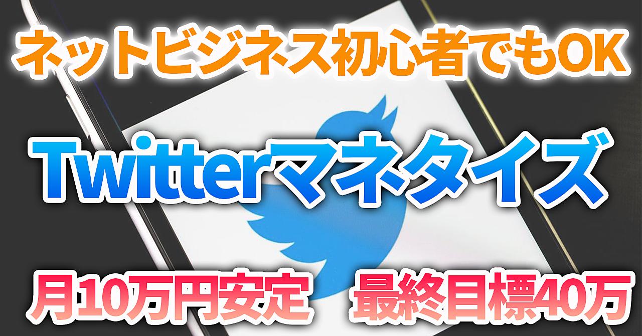 【Twitterマネタイズ】ネットビジネス初心者でもOK⁉初心者でも月10万円を安定して稼ぐ方法
