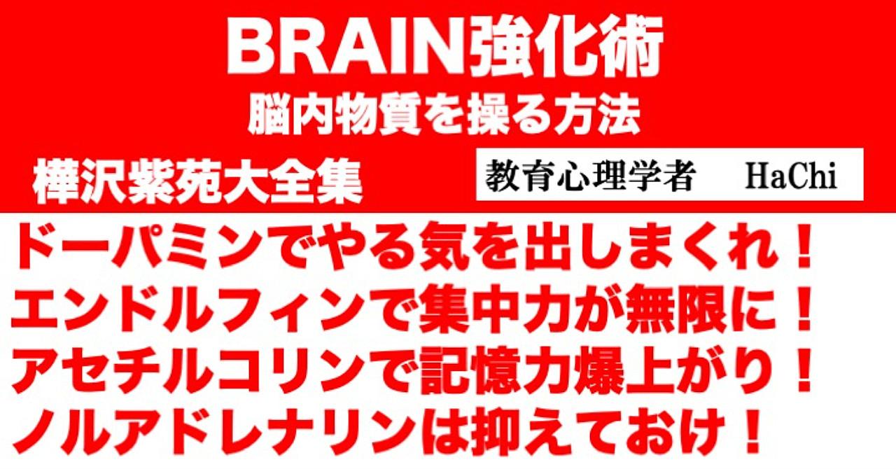 BRAIN強化術 脳内物質を操る方法