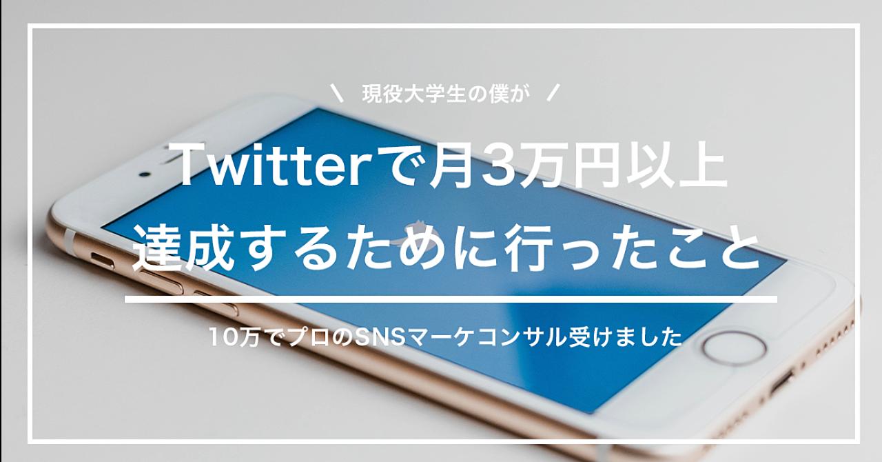 現役大学生がTwitterで月3万円以上達成するために行ったこと【10万のマーケコンサル受けました】