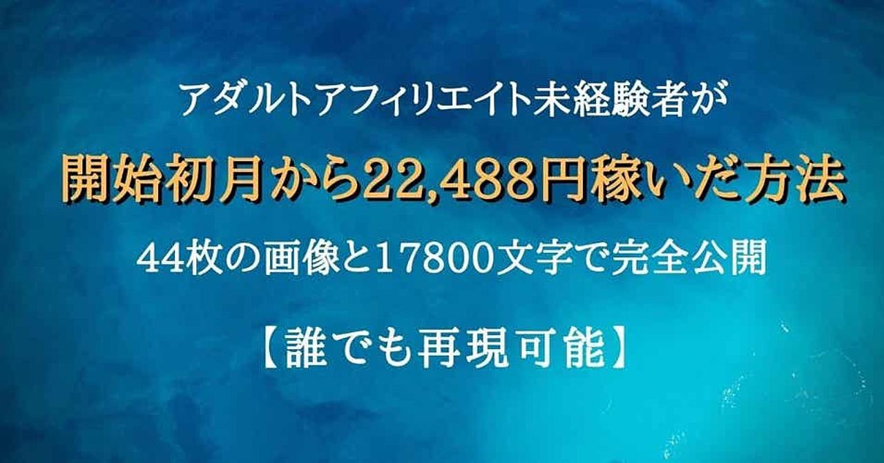 【アダルトアフィリエイト】未経験者が開始初月から22488円稼いだ方法を44枚の画像と17800文字で完全公開【誰でも再現可能】